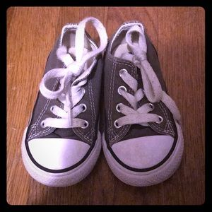 Baby converse shoes gray